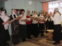 Монастырский хор их Свято-Успенского Псково Печерского монастыря
